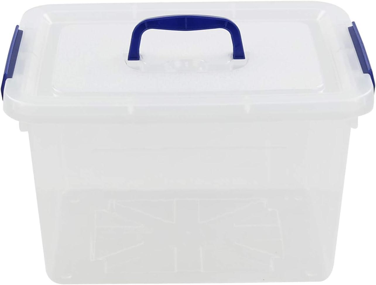 Wekiog Versatile Cheap SALE Start Storage Organizer Plastic 12 Bins Lid Max 80% OFF Qua with