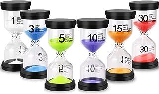 EMDMAK Sand Timer Colorful Hourglass Sandglass Timer 1 min/3 mins/5 mins/10 mins/15 mins/30 mins Sand Clock Timer for Game...