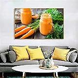 adgkitb canvas Fruta Vegetal Jugo Imagen Impresión Lienzo Pintura Mural Arte Cartel Sala de Estar Dormitorio Decoración 3 58x90cm SIN Marco