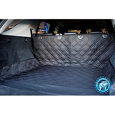 Bulldogology SUV Cargo Liner Cover for Dogs - Heavy Duty, Durable, Non-Slip, Waterproof (Large, Black)