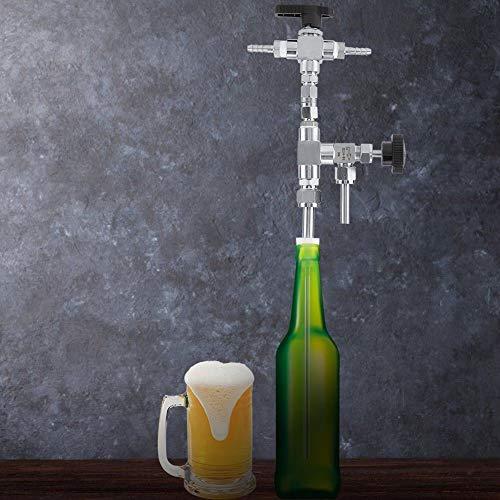 Fashionwu Kit de coctelera de acero inoxidable 304, para rellenar cerveza doméstica, color plateado