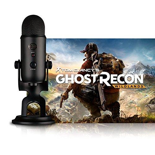 Blue Microphones Blackout Yeti - Micrófono + Tom Clancy's Ghost Recon Wildlands PC: Streamer Bundle, Negro (Blackout)
