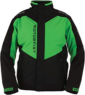 Motorfist Clutch Jacket Black/Green (Green, X-Large)