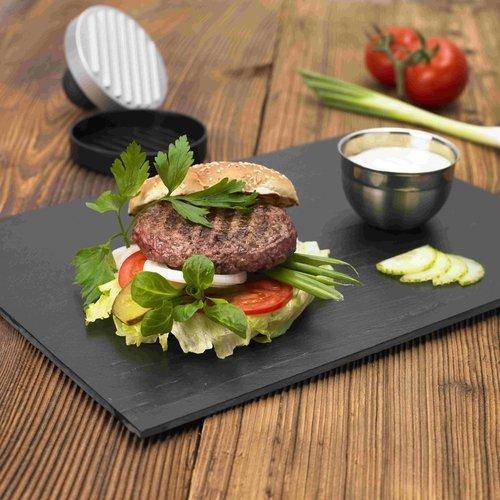 51J3kgw gUL - Rösle BBQ Burgerpresse, Edelstahl 18/10, ABS, Patties mit Ø 11 cm, einfaches Formen