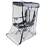 Kelsyus Premium Portable Camping Folding Chair with Canopy and Weather Shield