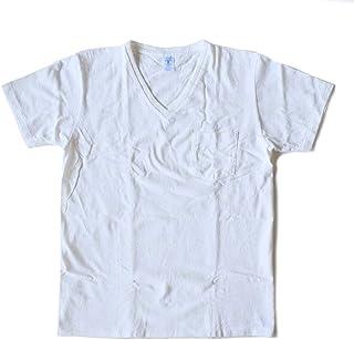Velva Sheen(ベルバシーン) Vネック ポケットTシャツ(2パックTシャツ ばら売り) ホワイト (160922)MADE in USA