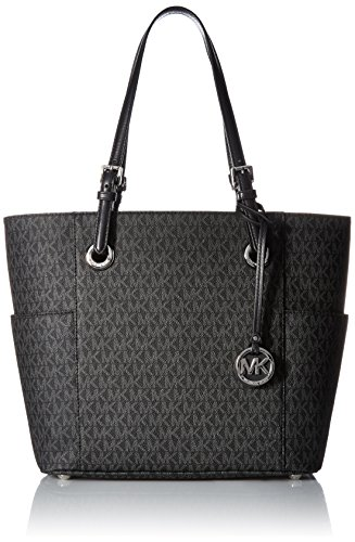 MICHAEL KORS Jet Set Travel Small Logo Tote - Black