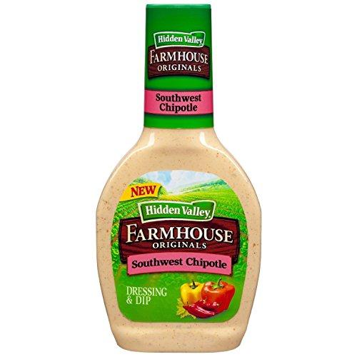 Hidden Valley, Farmhouse Originals, Southwest Chipotle Salad Dressing, 16oz Bottle (Pack of 3)