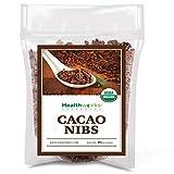 Healthworks Cacao Nibs Raw Organic (16 Ounces / 1 Pound) | Criollo Bean | Unsweetened Chocolate Substitute | Certified Organic | Keto, Vegan & Non-GMO | Antioxidant