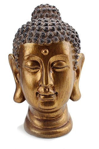 We pay your sales tax Smiling Meditating Buddha Shakyamuni Head Statue 8' Tall Blessing Mercy & Love Peaceful (G16632) Feng Shui Idea