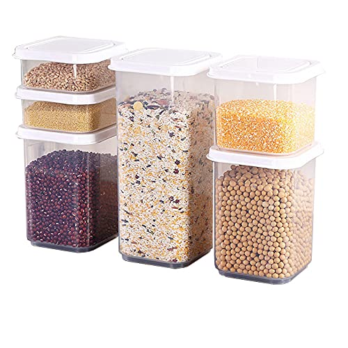 xu Cocina Cajas Selladas Caja de Almacenamiento de Cereales Malla de plástico Caja de Carga Seca Caja de Almacenamiento de Alimentos