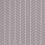 Stoff Meterware Baumwolle grau Grafik Linien Winkel 70er