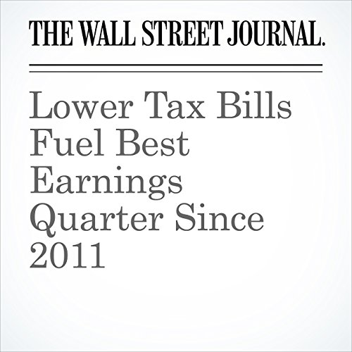 Lower Tax Bills Fuel Best Earnings Quarter Since 2011 audiobook cover art