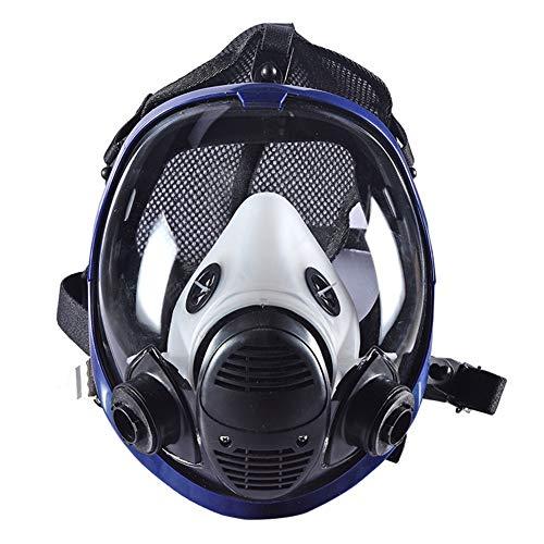 XIAOCUI Gas Mask Ajustable con filtros, Máscara de Gas, Reutilizable, para Trabajo en Aerosol/Pintura