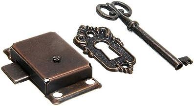 53 × 27mm (2,09 X 1.06in) Antieke Kabinet Lock, Drawer Closet Deurvergrendeling, Furniture Counter Ladeslot, Vervangen Doo...