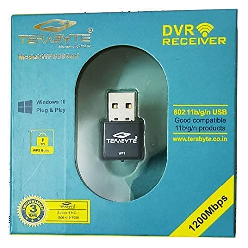 StoreIN™ Terabyte 1200 Mbps Mini DVR Reciever Wireless Network USB Wi-Fi Adapter & DVR Receiever for PC Desktop Laptop (Supports Windows XP/7/8/8.1, Mac OS and Linux, WPS, & All Dvr Reciever Support.
