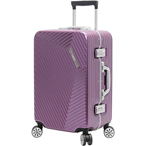 Andiamo Elegante Suitcase with Built-in TSA Lock - Zipperless 20 Inch Hardside Carry On Bag- Lightweight (ABS+PC) Luggage With 8-Rolling Spinner Wheels (Quartz)