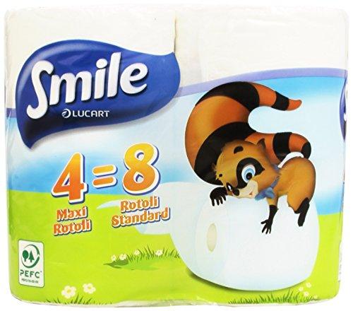 Smile Toilettenpapier, 100% reine Zellulose, 4 Rollen