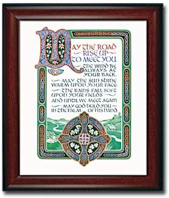 Max 90% OFF Irish Blessing Framed Print May the Saint Rise Patr Road Up with Challenge lowest price of Japan