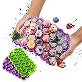 CHANG Bac à glaçons avec Couvercle, sans BPA, 2 moules à Glaçons de 74 Plateaux, Bacs à Glaçons pour Aliments pour Bébés, Boissons, Bière, Whisky, Glaçons aux Fruits