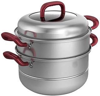 WSJ - Juego de ollas, 26 cm, acero inoxidable, multifuncional, para cocinar arroz, pasta (color A, tamaño: 26 cm)