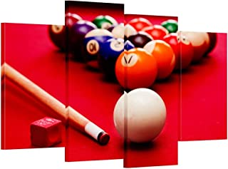 Hello Artwork - Large Size Billiard Balls Canvas Print Home Wall Decor Art Giclee Pool Snooker Picture Framed Artwork for Lounge Bar Decorations Ready to Hang