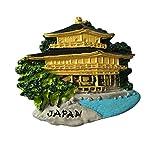 MUYU Magnet Golden Pavilion Japan 3D-Kühlschrankmagnet, Reiseaufkleber, Souvenir, Heim- und Küchendekoration