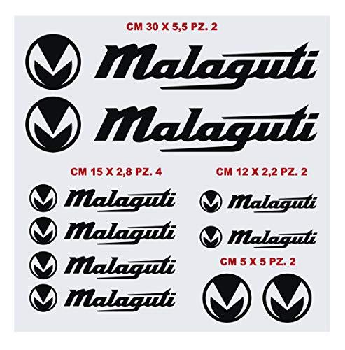 Kit Adesivi stickers'COMPATIBILE' MALAGUTI PHANTOM MADISON CROSSER F10 FIREFOX DRAKON CENTRO moto decal scegli colore cod. 1417 (070 NERO)