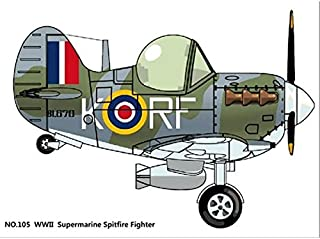 WWII Royal Air Force Supermarine Spitfire Fighter Cute Plane Kit Series No. 05