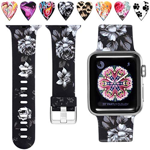 Laffav Floral Band Compatible with Apple Watch 40mm 38mm iWatch SE Series 6 Series 5 4 3 2 1 product image