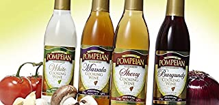 Pompeian Cooking Wine 12.7oz Sampler Pack (Variety Pack of 4 Different Flavors)