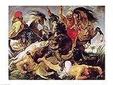 The Poster Corp Peter Paul Rubens – Nilpferd und Krokodil