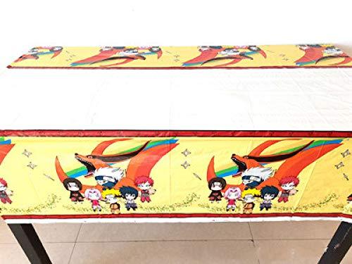 YQDHB Juego de vajilla de Fiesta de Naruto decoración de Fiesta de cumpleaños para niños Vaso de Papel Toalla Mantel Juego de vajilla,tablecloths(1piece)
