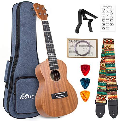 Tenor Ukulele 26 Inch Ukelele Mahogany ukulele for Beginner with Gig Bag Strap String Capo Picks