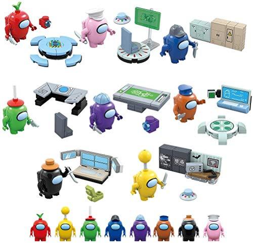 GHSY Serie de Juegos Among us Figuras de Astronautas Espaciales Modelo Bloques de Construcción Ladrillos Figura de Acción Juguetespara Niños Regalo para Niños Navidad (8Pcs/Set)