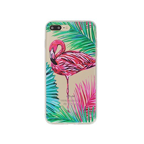 sports shoes fea0d f438f iPhone 6 Plus Case,iPhone 6s Plus Case,Girls Bahama Leaf Neon Flamingo Cute  Tropical Pink Animal Bird Flowers Beach Floral Hawaii Palm Tree Overload ...