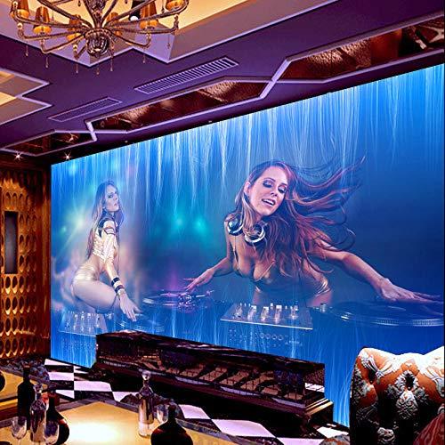 Großes Wandbild_ktv Tapete sexy Schönheit Nachtclub große Bar Casino fototapete 3d Tapete effekt Vlies wandbild Schlafzimmer-300cm×210cm