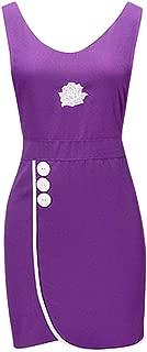 YUENA CARE Work Sleeveless Aprons for Hair Stylist Salon Smock Vest Waitress Barber Uniform Apron Purple