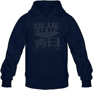 Ufx of Xview Men's Serenity Firefly Blue Sun Logo Hoodie Sweatshirt