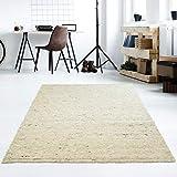 Taracarpet Moderner Handweb Teppich Alpina handgewebt aus Schurwolle für Wohnzimmer, Esszimmer, Schlafzimmer...