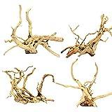 Aquarium Driftwood Natural Wood Reptile Branch Fish Tank Tree Plant Stump Ornament Decor 4 PCS