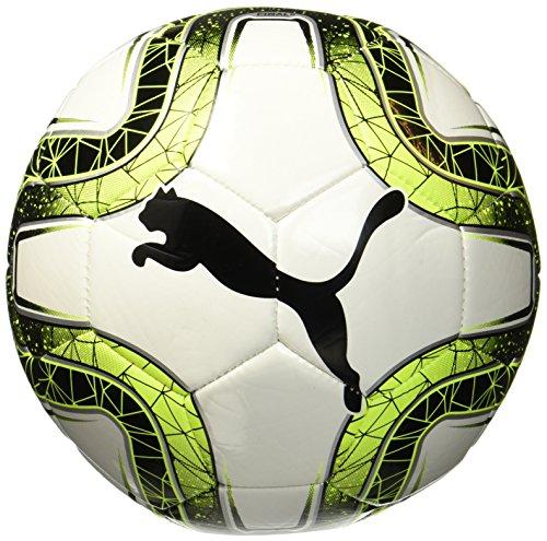 PUMA Final 6 MS Trainer Balón de Fútbol, Unisex Adulto, Blanco/Amarillo/Negro, 5