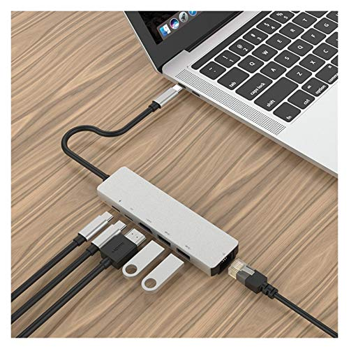 Download information USB 3.0 3.0 Concentrated Fast Charging Gigabit NIC HD Laptop Central High-speed Port Ethernet Network PD HUB HUB In the case of computer