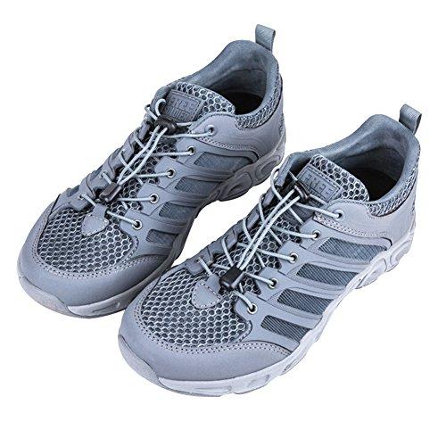 Free Soldier Zapatos para Hombre al Aire Libre Zapatos de Secado rápido Transpirables ultraligeros Upstream(Gris,43 EU)