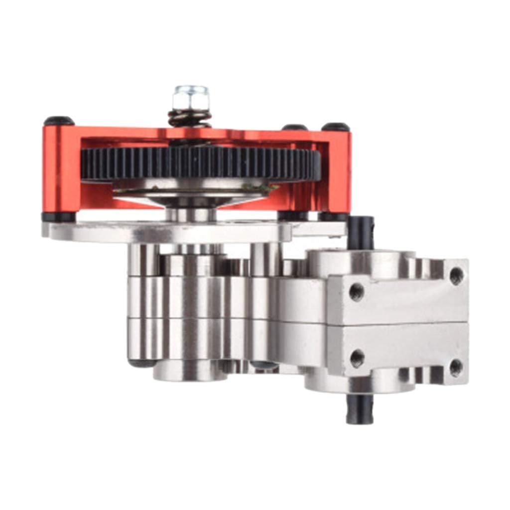 TwoCC Accesorios Rc,1:10 Coche de Escalada Mejorar Conjunto de Engranaje Medio de Metal Caja de Cambios de Caja de Transmisión Ensamblada Con Engranaje Recto Para Coche 1/10 Scx10: Amazon.es: Bricolaje y herramientas