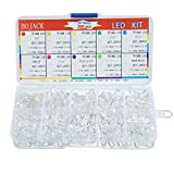 BOJACK 10 colori 200 pezzi 5mm diodi a LED Kit di confezioni (Trasparente DC 2 V - 3,2 V 2...