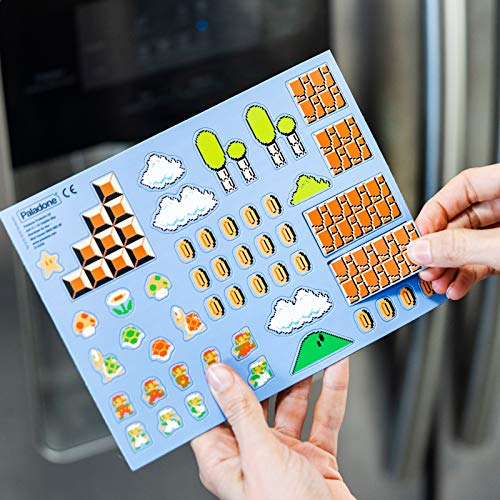 Super Mario Bros. Fridge Magnets - Features 80 Magnetic Characters and Icons