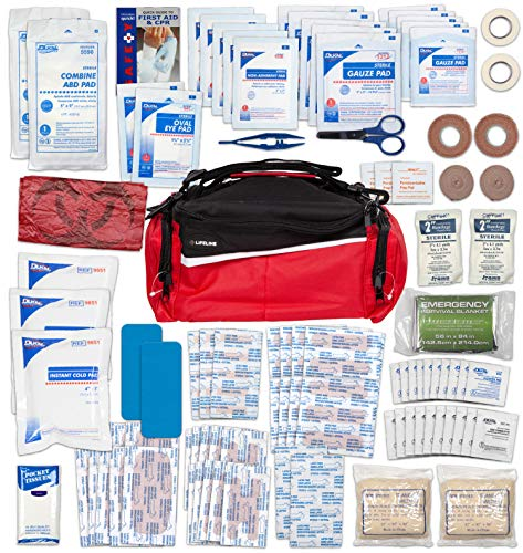 Team Sport Coach First Aid and Safety Kit, Stocked with essential first aid components for emergencies resulting from outdoor and team sports activities