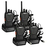 BaoFeng BF-88E PMR Walkie Talkies Long Range Rechargeable 2 Way Radio with Earpieces Handheld Transceiver 16CH...