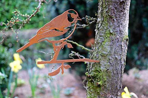 Combini Baumstecker Glücksvogel Buchfink, Gartendeko für den Baum.